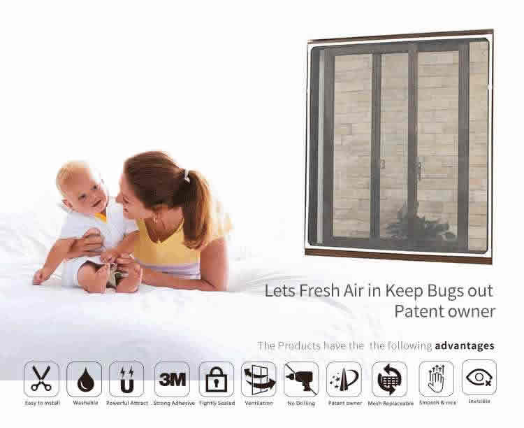 best magnetic window screen